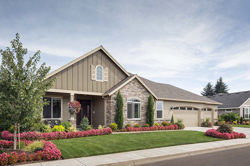 Craftsman, Ranch, Traditional House Plan 81212 with 3 Beds, 2 Baths, 3 Car Garage Picture 7