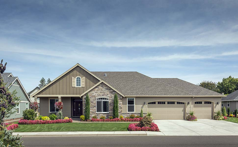 Craftsman, Ranch, Traditional House Plan 81212 with 3 Beds, 2 Baths, 3 Car Garage Picture 8