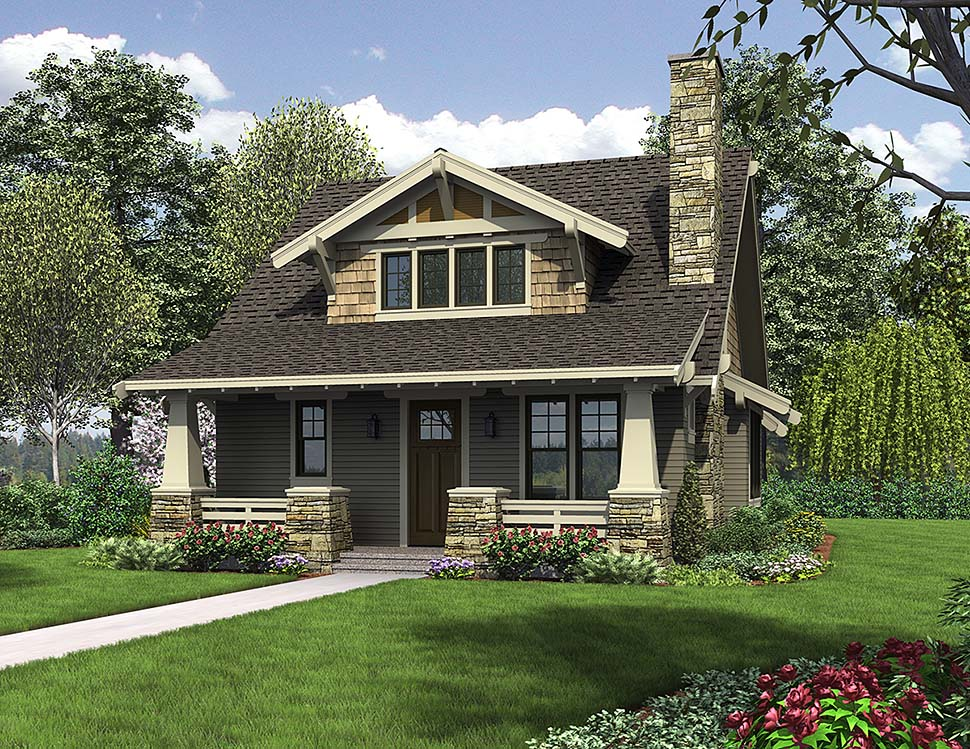 Bungalow , Cottage , Craftsman House Plan 81214 with 3 Beds, 3 Baths Elevation