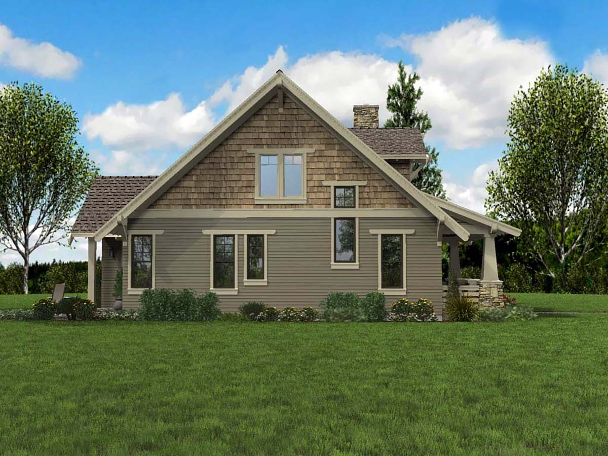 Bungalow, Cottage, Craftsman House Plan 81214 with 3 Beds, 3 Baths Picture 2