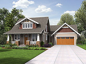 Bungalow , Craftsman , Modern , Traditional House Plan 81220 with 3 Beds, 3 Baths, 2 Car Garage Elevation