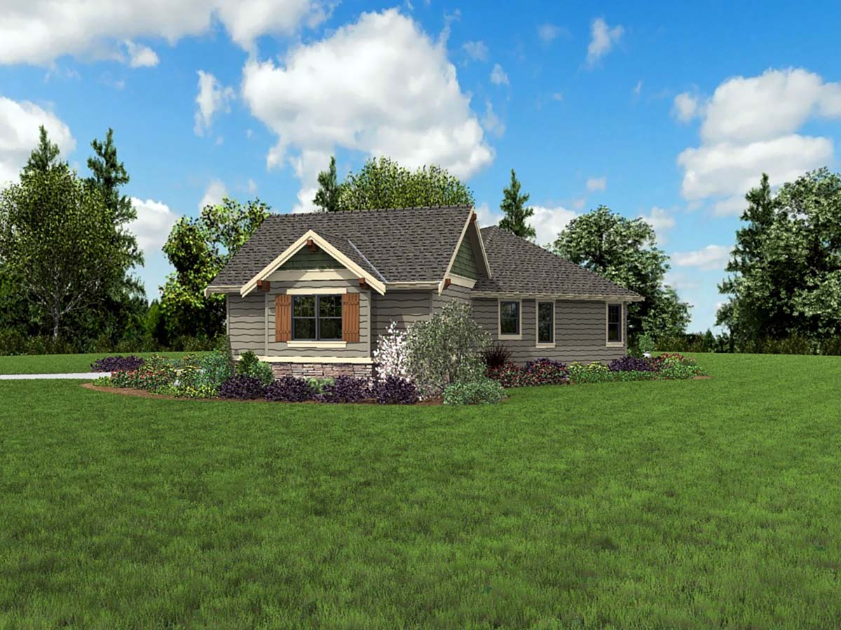 Craftsman, Ranch House Plan 81223 with 3 Beds, 3 Baths, 2 Car Garage Picture 1