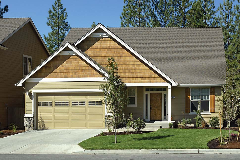 Bungalow, Craftsman House Plan 81225 with 3 Beds, 3 Baths, 3 Car Garage Front Elevation