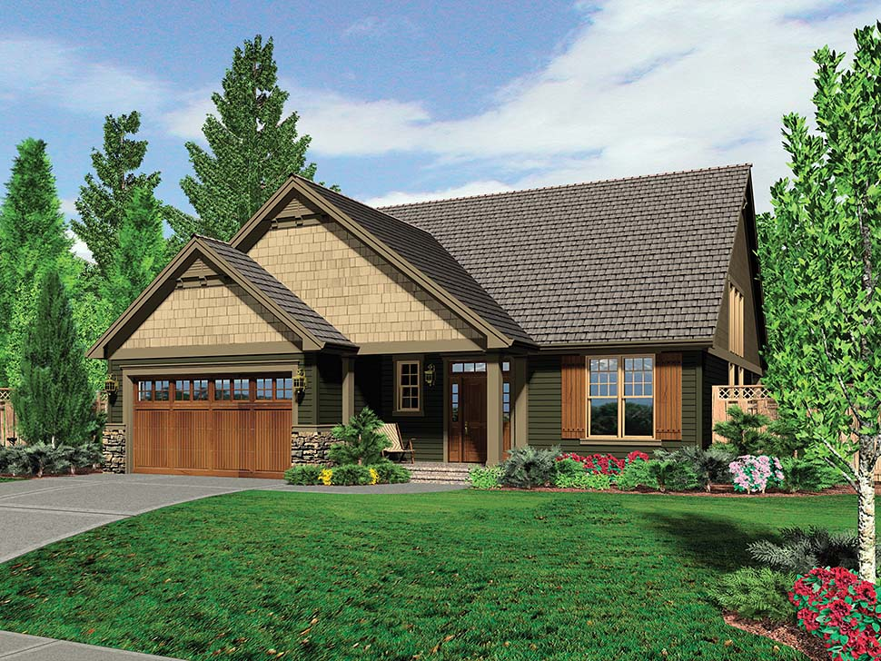 Bungalow, Craftsman House Plan 81225 with 3 Beds, 3 Baths, 3 Car Garage Picture 1