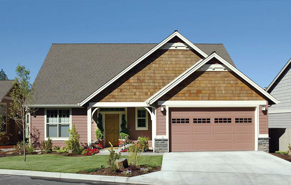 Bungalow, Craftsman House Plan 81225 with 3 Beds, 3 Baths, 3 Car Garage Picture 2