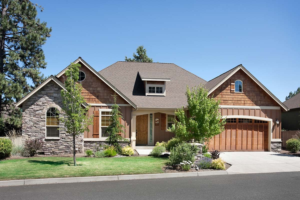Bungalow, Craftsman House Plan 81227 with 3 Beds, 2 Baths, 3 Car Garage Picture 1