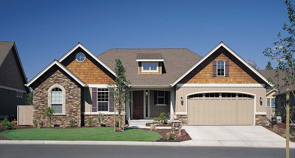 Bungalow, Craftsman House Plan 81227 with 3 Beds, 2 Baths, 3 Car Garage Picture 8
