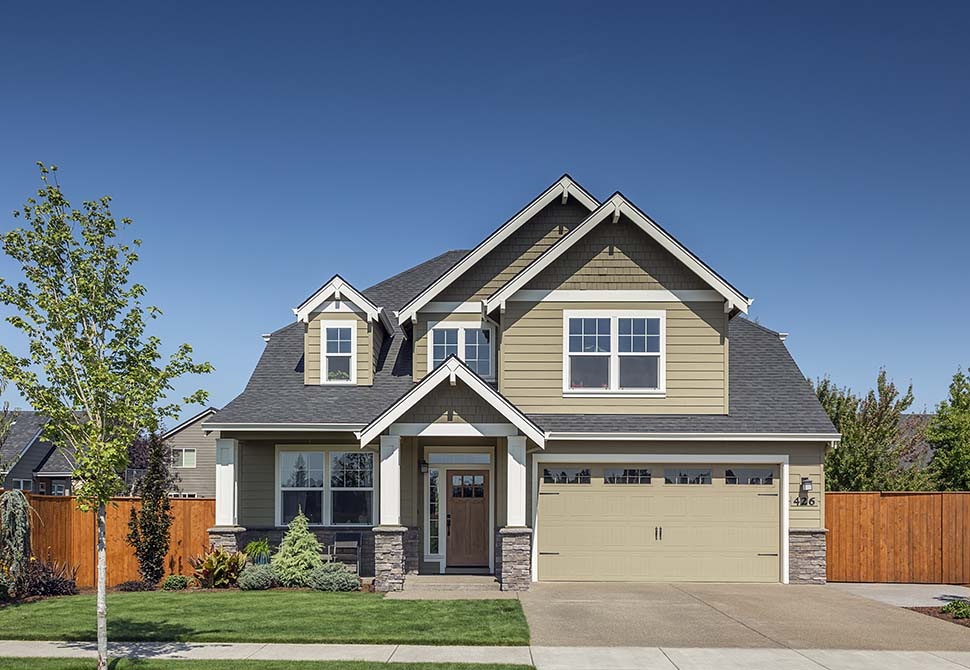 Cottage, Craftsman House Plan 81228 with 4 Beds, 3 Baths, 2 Car Garage Picture 3