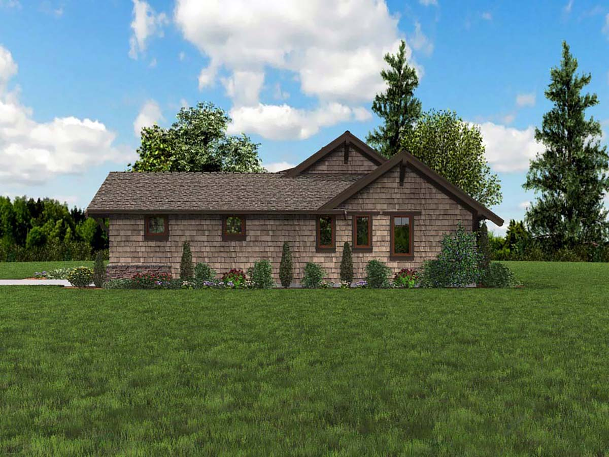 Bungalow, Craftsman House Plan 81229 with 3 Beds, 3 Baths, 2 Car Garage Picture 1