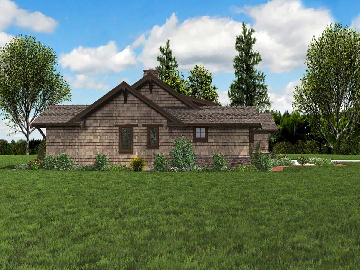 Bungalow, Craftsman House Plan 81229 with 3 Beds, 3 Baths, 2 Car Garage Picture 2