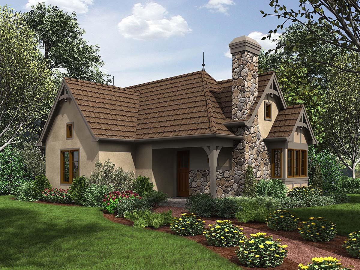 Cottage, French Country, Tudor House Plan 81234 with 2 Beds , 1 Baths Elevation
