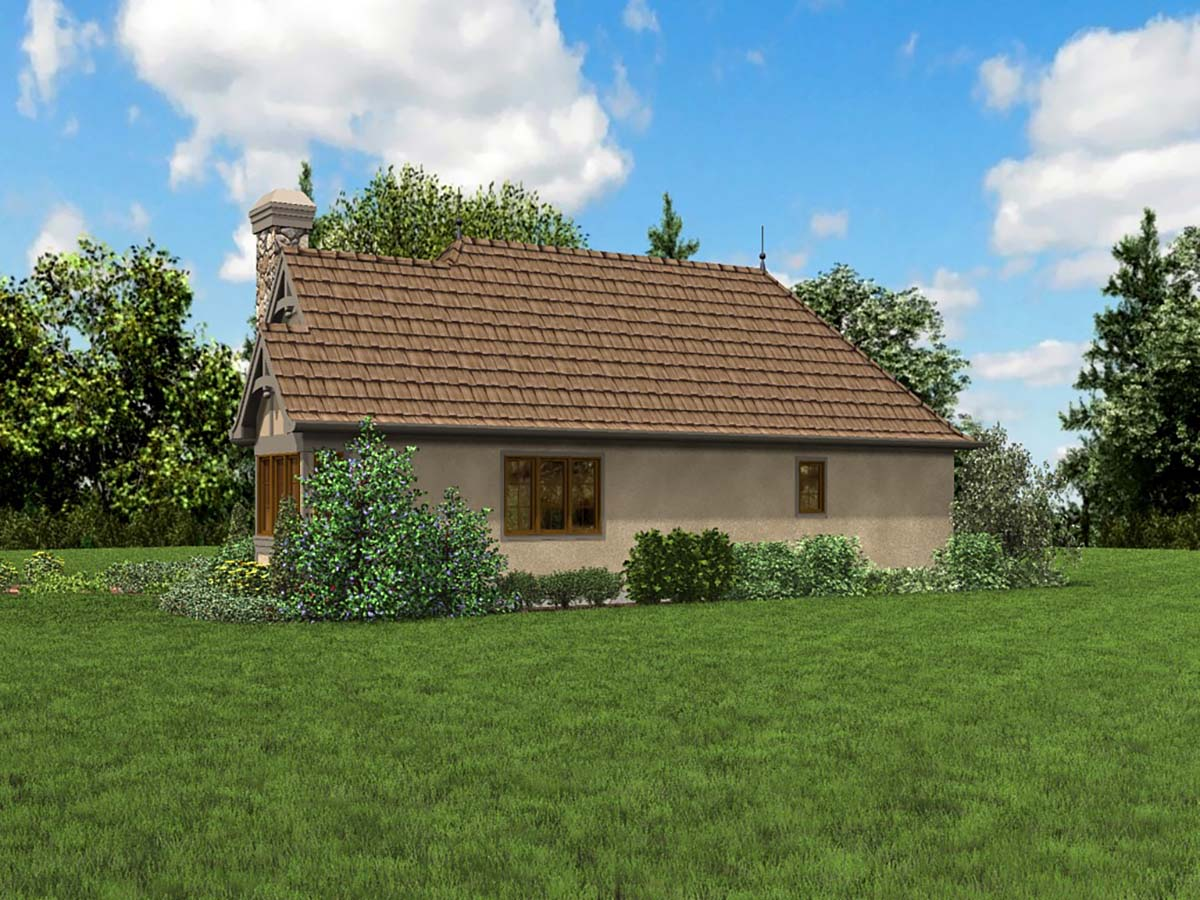 Cottage, French Country, Tudor House Plan 81234 with 2 Beds, 1 Baths Picture 1