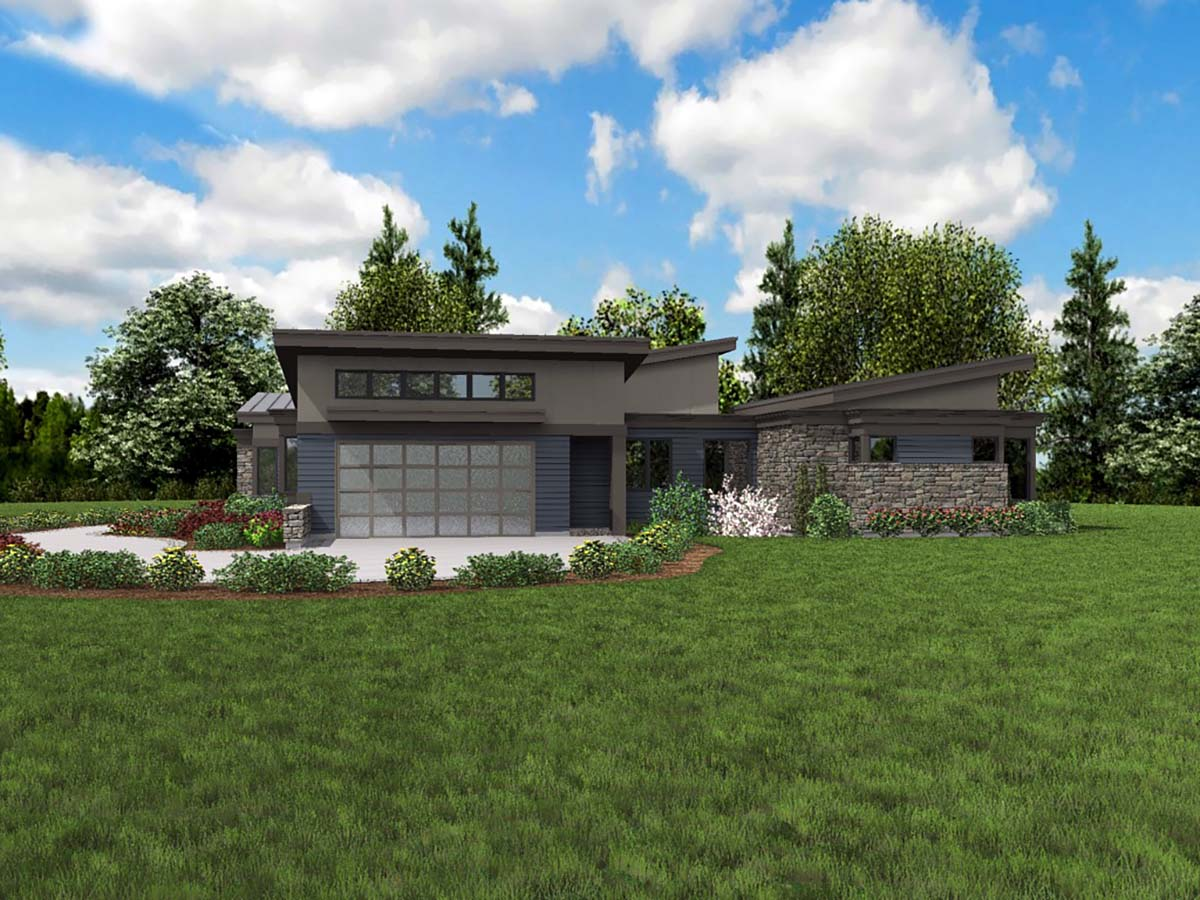 Contemporary, Modern House Plan 81235 with 3 Beds, 3 Baths, 2 Car Garage Picture 1