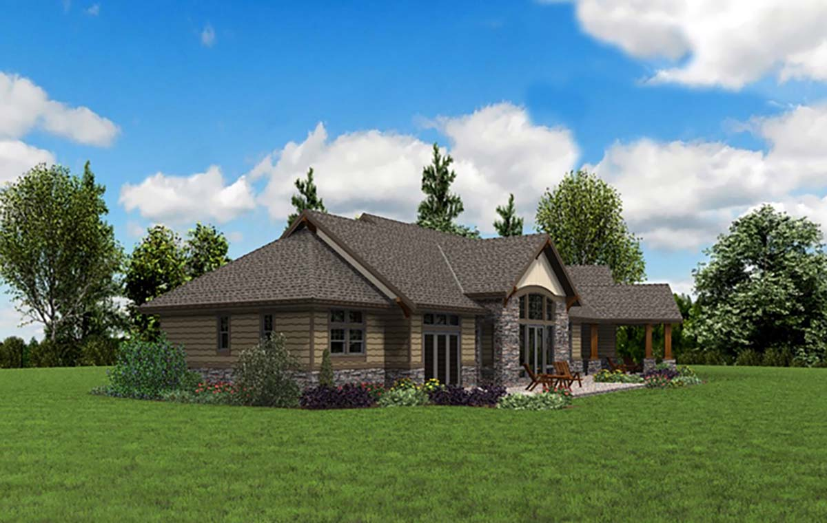 Craftsman House Plan 81238 with 3 Beds, 3 Baths, 3 Car Garage Picture 1