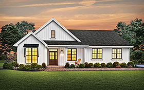 Cottage , Country , Ranch , Traditional House Plan 81241 with 3 Beds, 3 Baths, 2 Car Garage Elevation