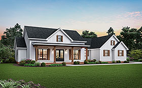 Cottage , Country , Farmhouse , Ranch House Plan 81243 with 3 Beds, 3 Baths, 2 Car Garage Elevation