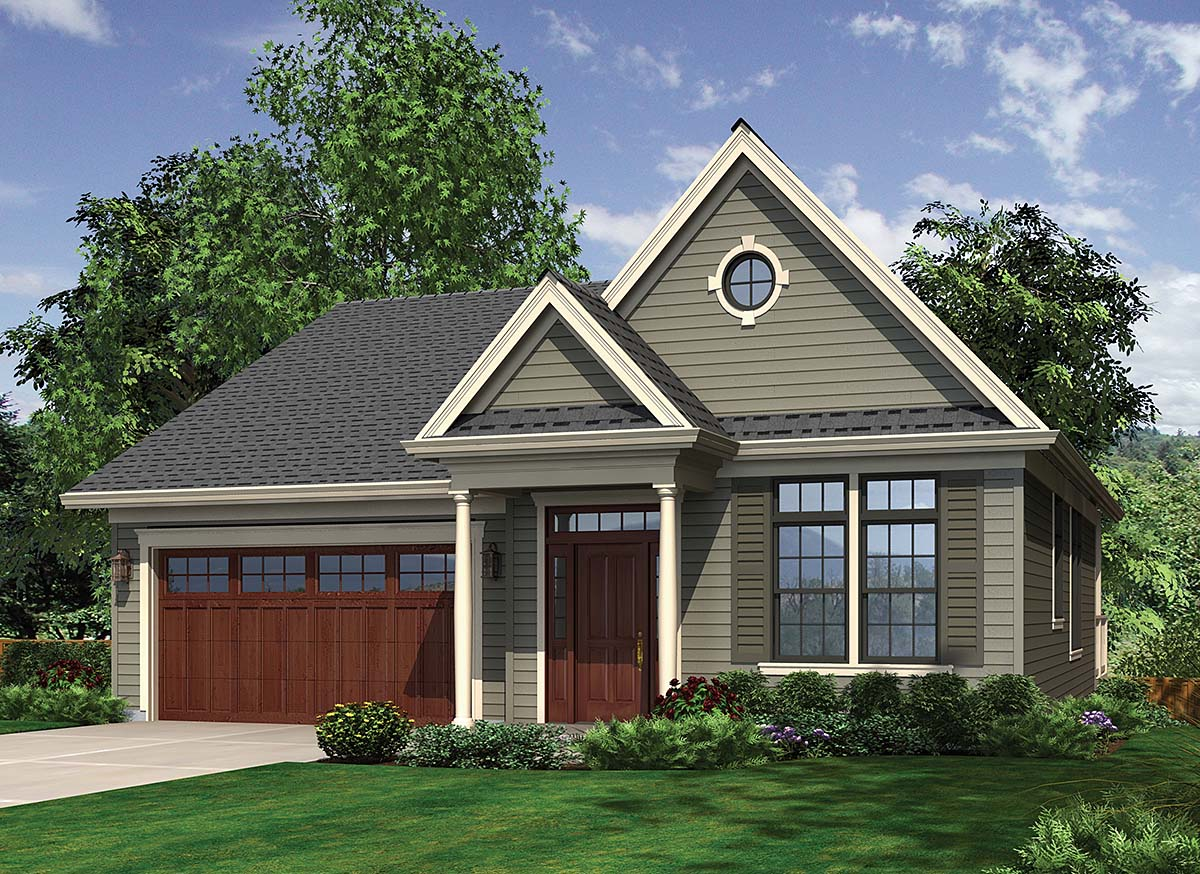 Traditional House Plan 81249 with 3 Beds , 3 Baths , 2 Car Garage Elevation