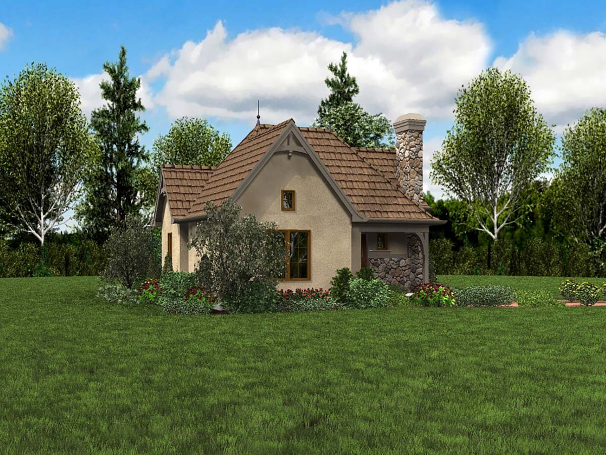 Cottage, Craftsman, One-Story, Tuscan House Plan 81251 with 1 Beds, 1 Baths Picture 2