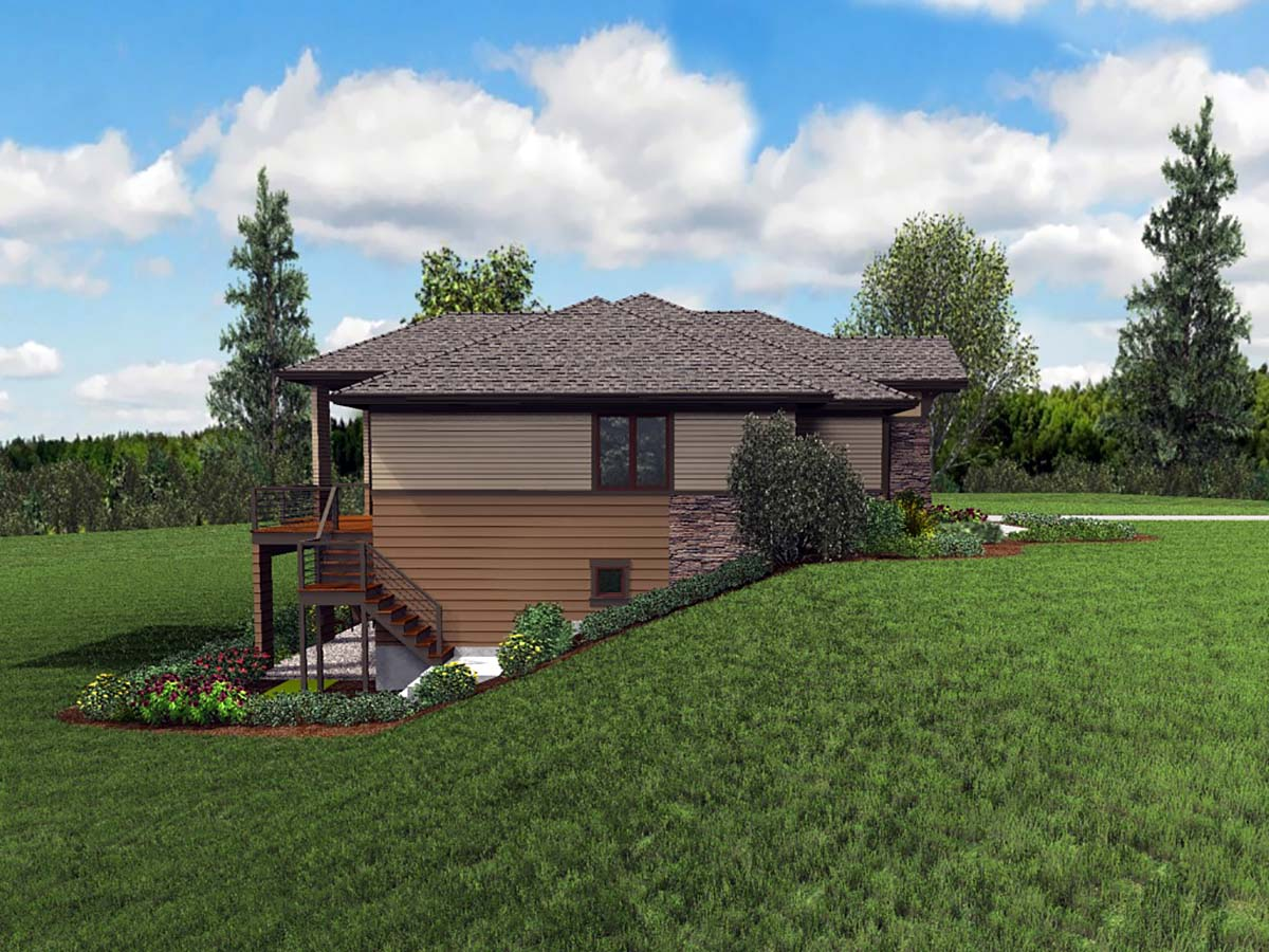 Contemporary, Craftsman, Tuscan House Plan 81262 with 3 Beds, 4 Baths, 2 Car Garage Picture 2