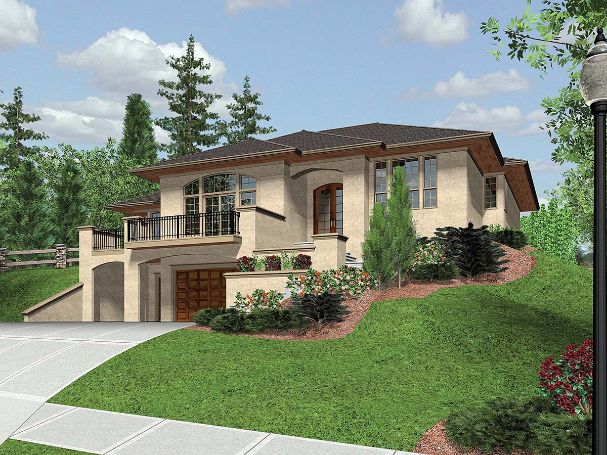 Coastal, Contemporary, Modern House Plan 81264 with 3 Beds , 3 Baths , 2 Car Garage Elevation