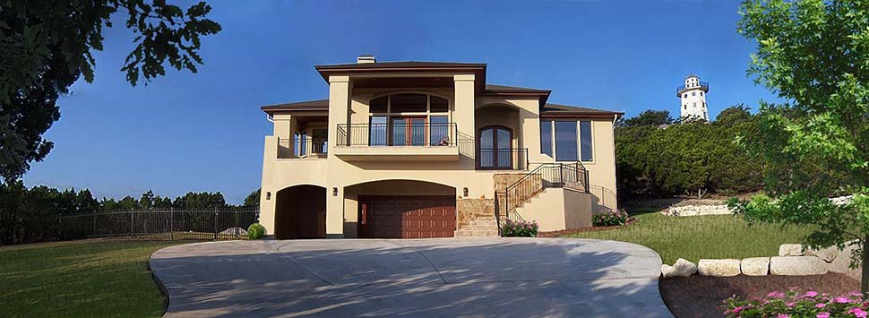 Coastal, Contemporary, Prairie House Plan 81264 with 3 Beds, 3 Baths, 2 Car Garage Picture 2