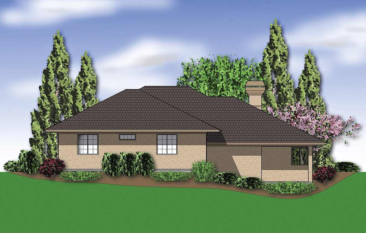 Coastal, Contemporary, Modern House Plan 81264 with 3 Beds , 3 Baths , 2 Car Garage Rear Elevation