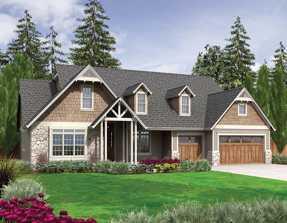 Bungalow, Craftsman, Ranch House Plan 81279 with 3 Beds, 3 Baths, 3 Car Garage Elevation