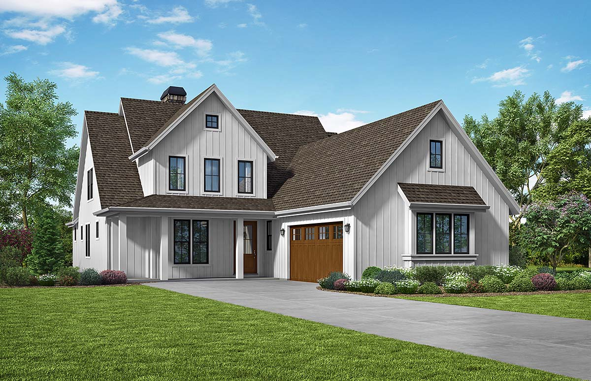 Traditional House Plan 81296 with 3 Beds, 3 Baths, 2 Car Garage Elevation
