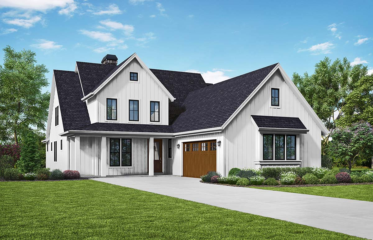 Traditional House Plan 81296 with 3 Beds, 3 Baths, 2 Car Garage Picture 1