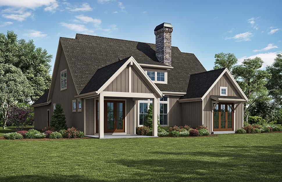 Traditional House Plan 81296 with 3 Beds, 3 Baths, 2 Car Garage Picture 4