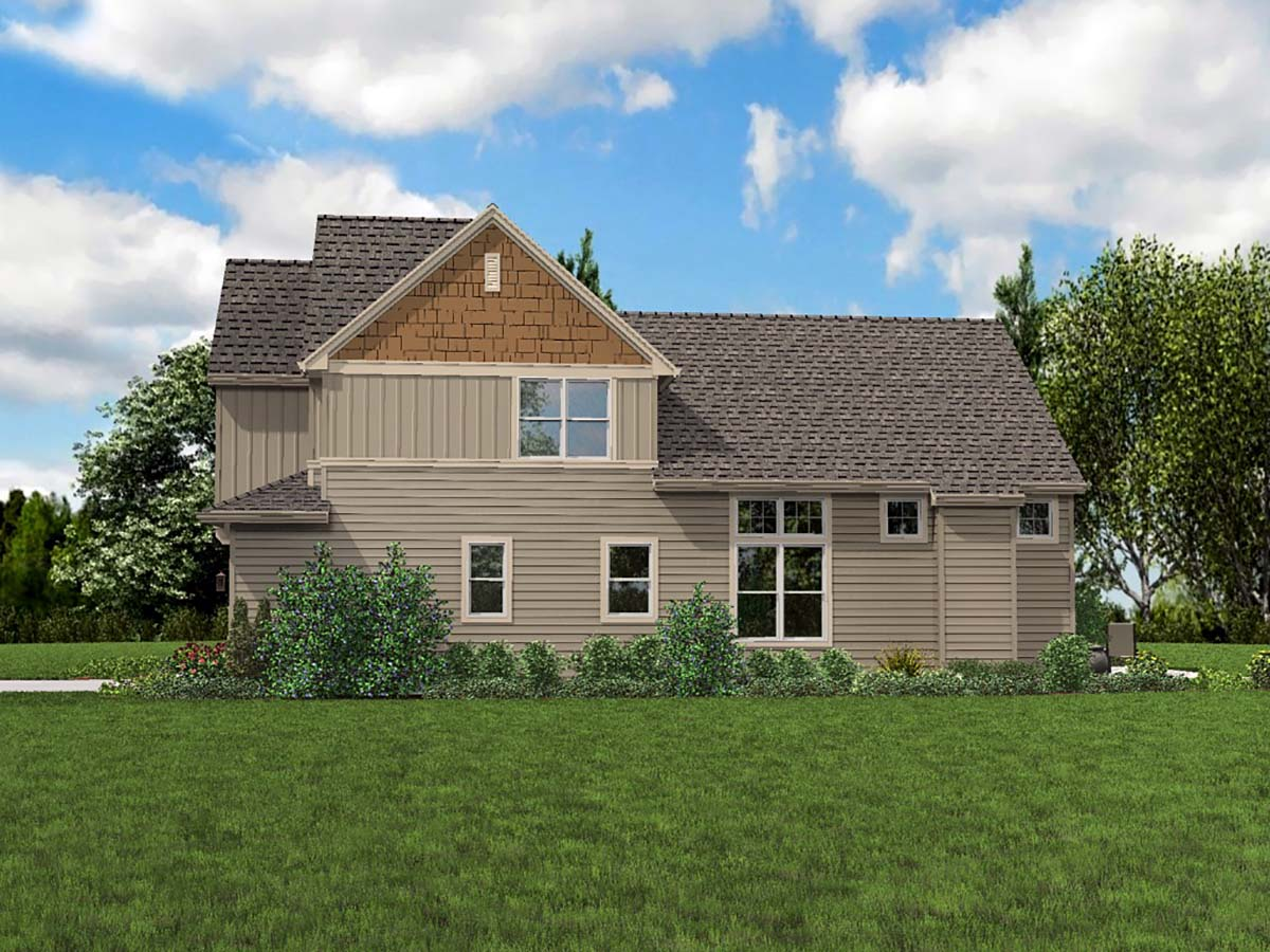 Cottage, Narrow Lot House Plan 81301 with 3 Beds, 3 Baths, 2 Car Garage Picture 1