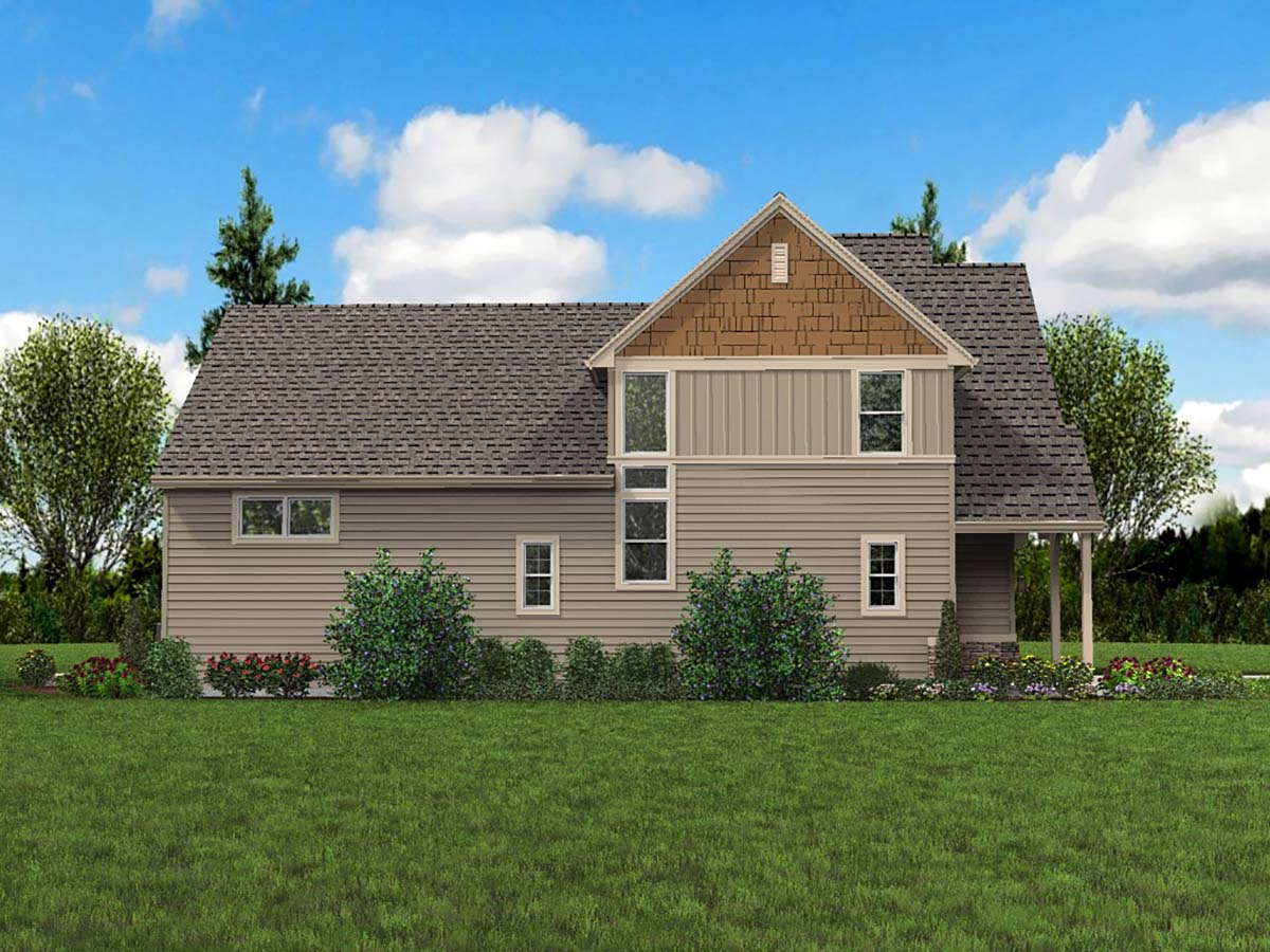 Cottage, Narrow Lot House Plan 81301 with 3 Beds, 3 Baths, 2 Car Garage Picture 2