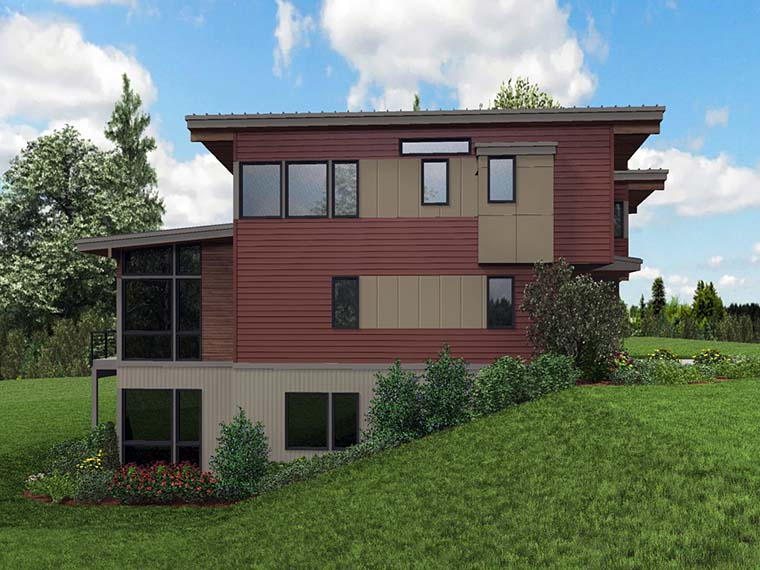 Contemporary, Modern House Plan 81302 with 4 Beds, 4 Baths, 2 Car Garage Picture 5