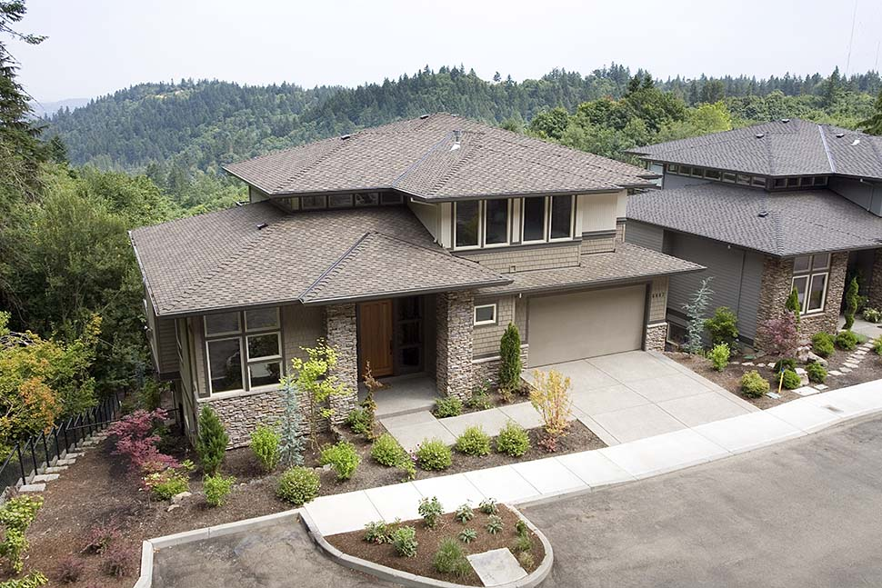 Contemporary, Prairie House Plan 81305 with 4 Beds, 4 Baths, 3 Car Garage Picture 2