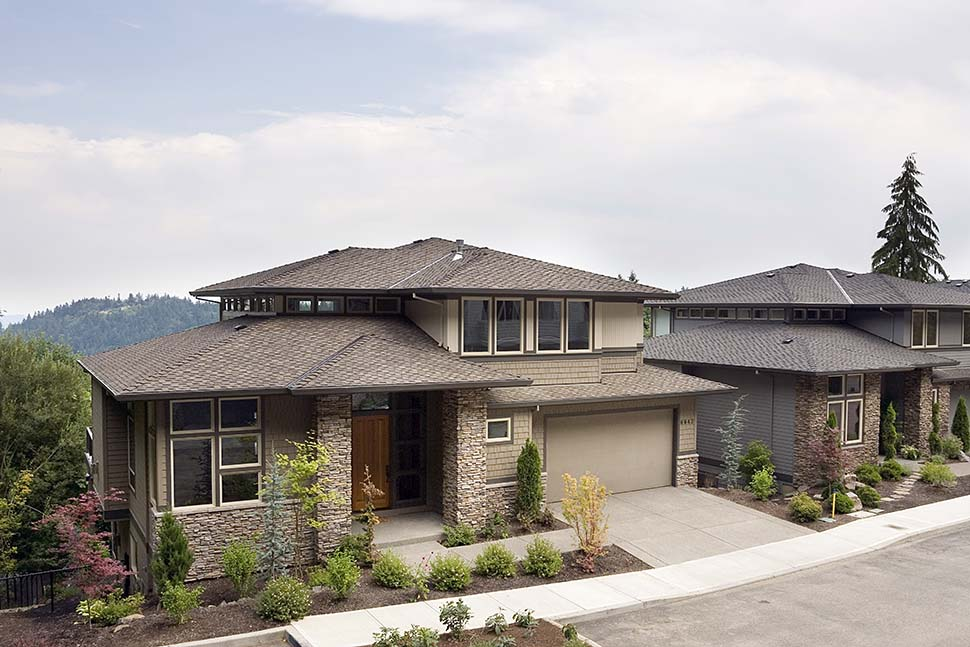 Contemporary, Prairie House Plan 81305 with 4 Beds, 4 Baths, 3 Car Garage Picture 3