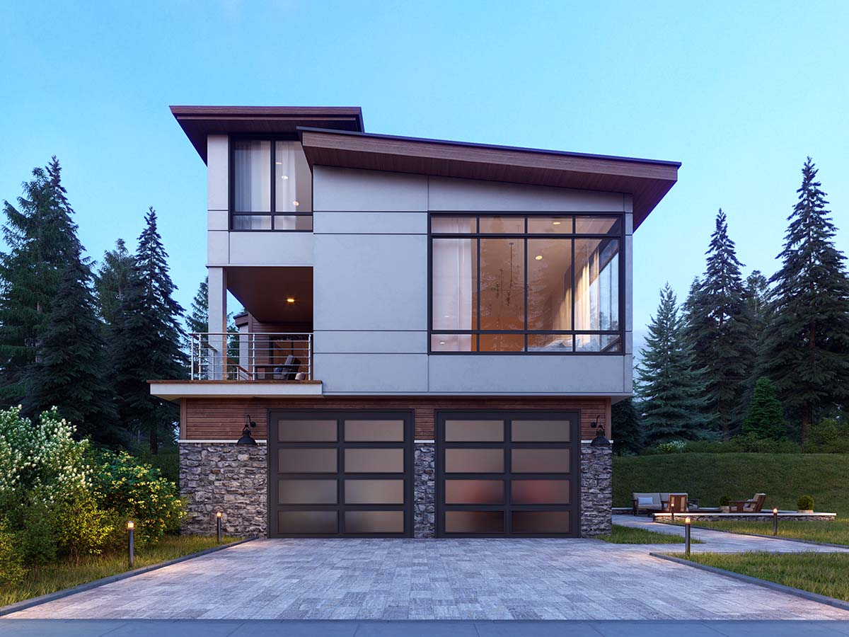 Contemporary, Modern House Plan 81901 with 5 Beds, 4 Baths, 2 Car Garage Picture 1