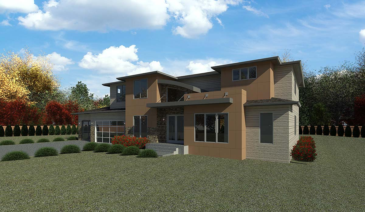 Contemporary, Modern House Plan 81905 with 5 Beds, 4 Baths, 3 Car Garage Picture 1