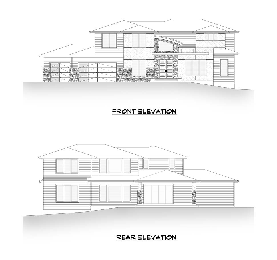 Contemporary, Modern House Plan 81905 with 5 Beds, 4 Baths, 3 Car Garage Picture 3