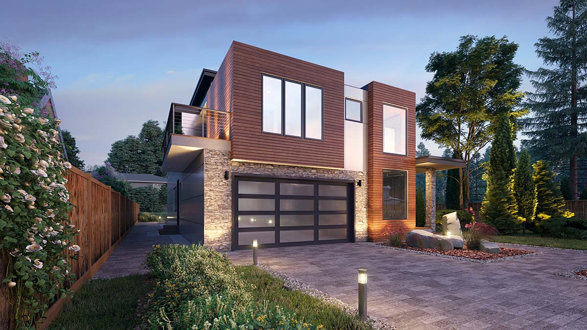 Contemporary, Modern House Plan 81908 with 5 Beds, 4 Baths, 2 Car Garage Picture 2