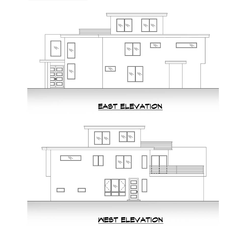 Contemporary, Modern House Plan 81908 with 5 Beds, 4 Baths, 2 Car Garage Picture 4