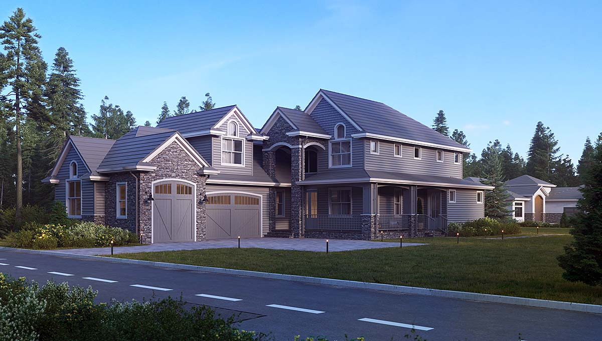 Traditional House Plan 81910 with 5 Beds, 5 Baths, 3 Car Garage Elevation