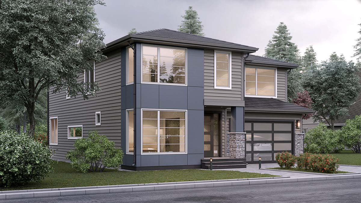 Contemporary House Plan 81913 with 5 Beds, 3 Baths, 2 Car Garage Picture 1