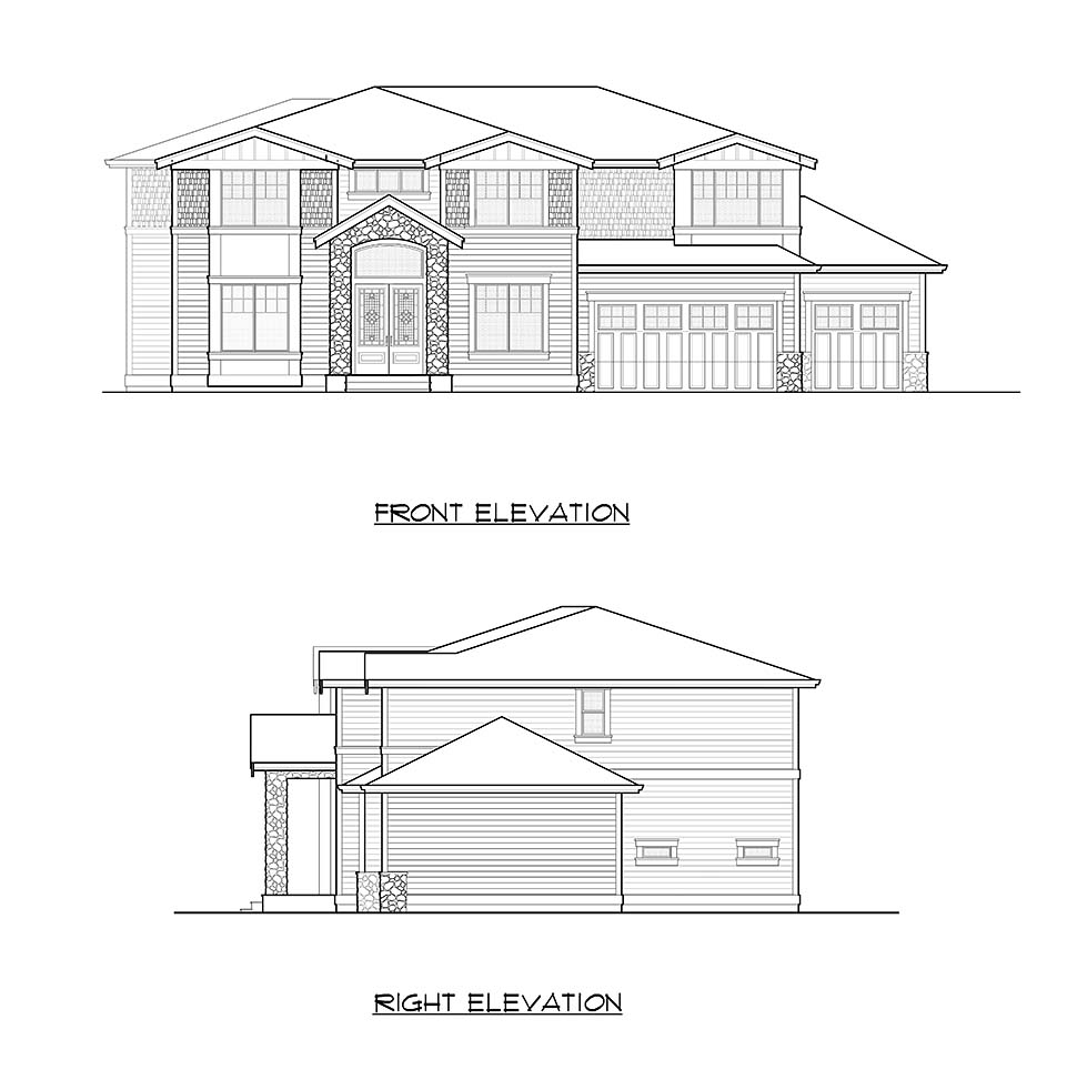 Contemporary House Plan 81923 with 6 Beds, 4 Baths, 3 Car Garage Picture 17