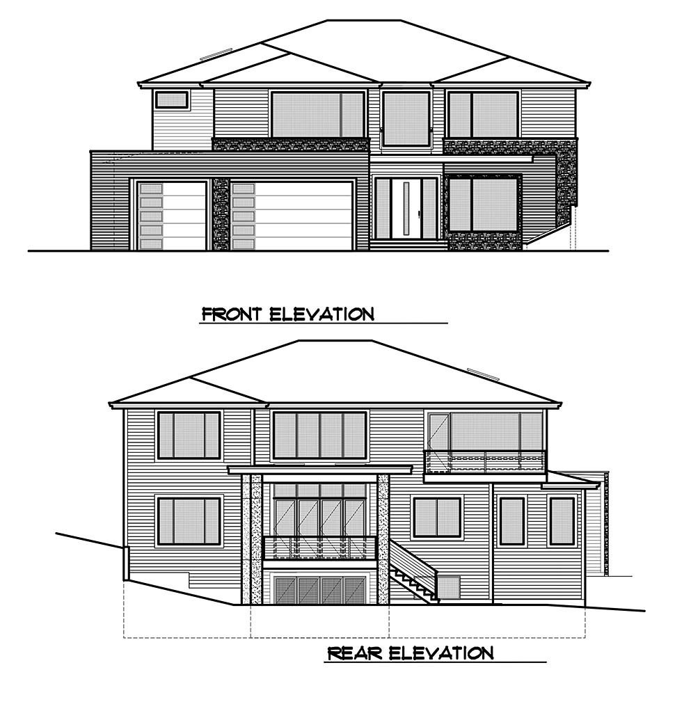 Contemporary, Modern, Prairie House Plan 81929 with 5 Beds, 6 Baths, 3 Car Garage Picture 3