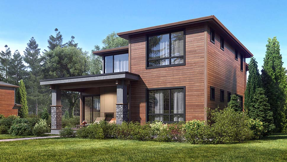 Contemporary, Modern House Plan 81931 with 4 Beds, 4 Baths, 2 Car Garage Picture 2