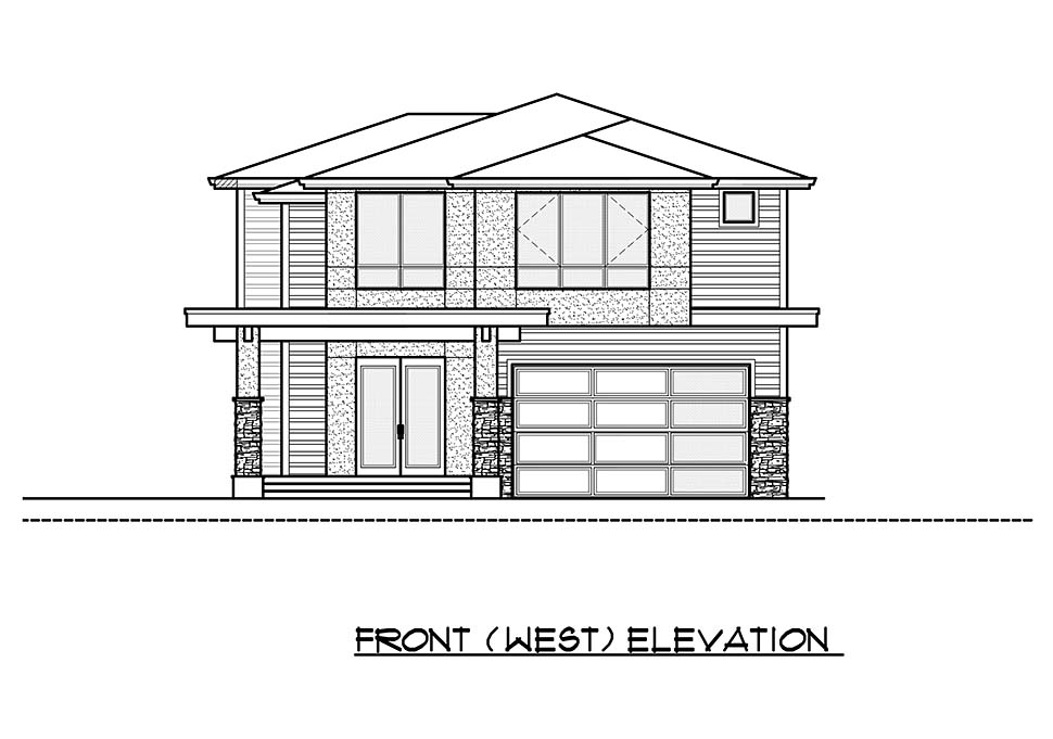 Contemporary, Modern House Plan 81931 with 4 Beds, 4 Baths, 2 Car Garage Picture 3