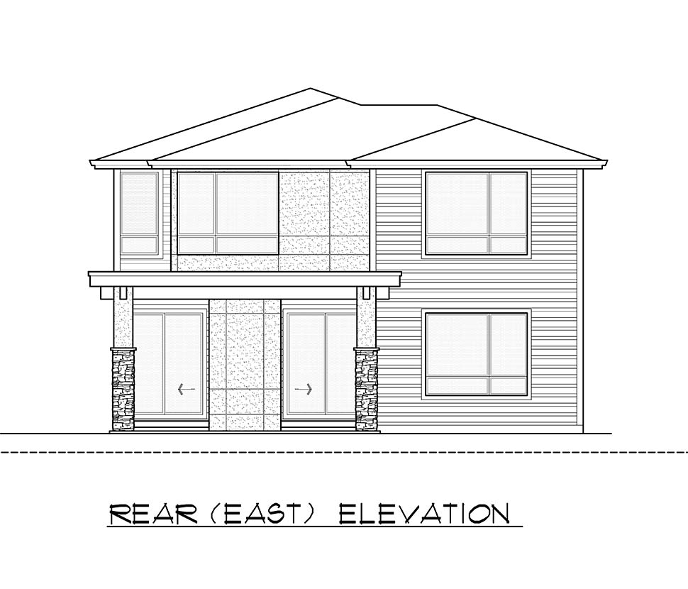 Contemporary, Modern House Plan 81931 with 4 Beds, 4 Baths, 2 Car Garage Picture 4