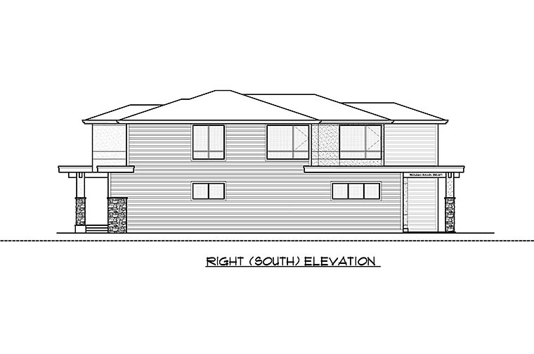 Contemporary, Modern House Plan 81931 with 4 Beds, 4 Baths, 2 Car Garage Picture 5