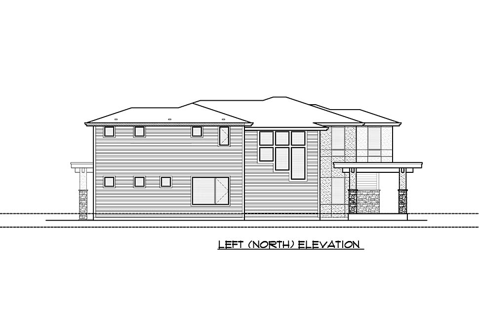 Contemporary, Modern House Plan 81931 with 4 Beds, 4 Baths, 2 Car Garage Picture 6