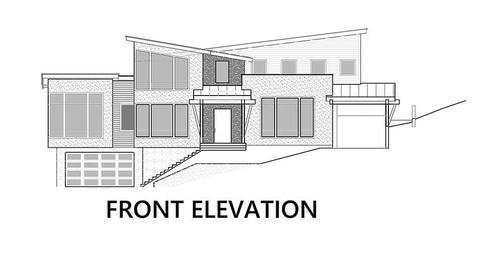 Modern Plan with 3053 Sq. Ft., 3 Bedrooms, 4 Bathrooms, 6 Car Garage Picture 4
